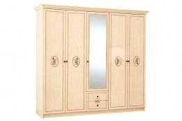 Шкаф для одежды  5Д  как часть комплекта Флорис, Клен, MEBEL SERVICE (Украина)